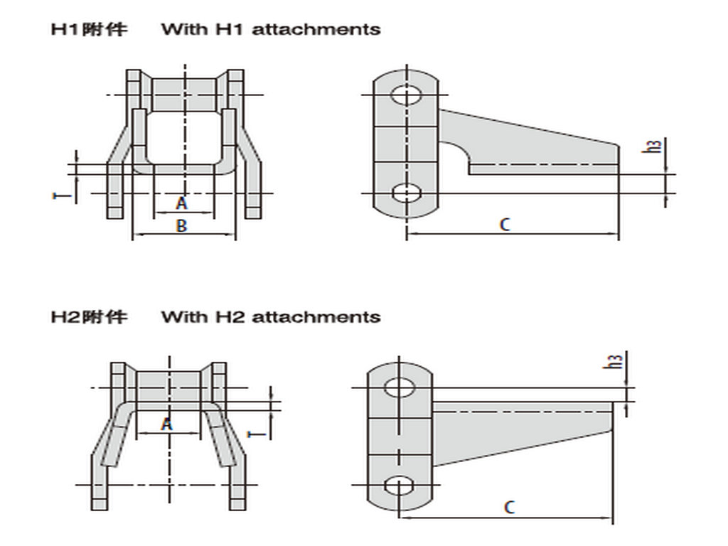 Welded-steel-type Mill Chains with Attachments